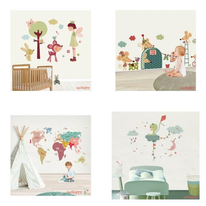 Vinilos infantiles y decorativos vinilos de quita y pon tienda online vinilos laminas cuadros vinilos infantiles decoración paredes decoración infantil Decohappy complementos hogar accesorios decoración