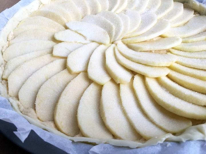 tartas rápidas tartas fáciles tarta manzana Tarta de hojaldre recetas delikatissen postres faciles hojaldre postres delikatissen postres con fruta frangipane y manzana