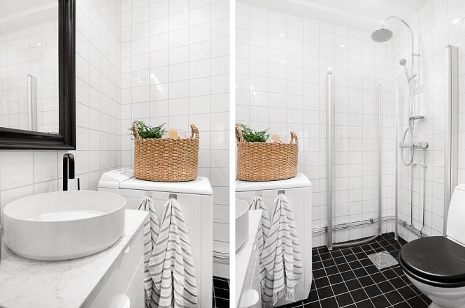 madera natural interiores espacios pequeños estilo nórdico escandinavo encimeras de mármol decoración moderna decoración mini pisos cocina nórdica moderna cocina blanca blog interiores nórdicos blog decoración nórdica