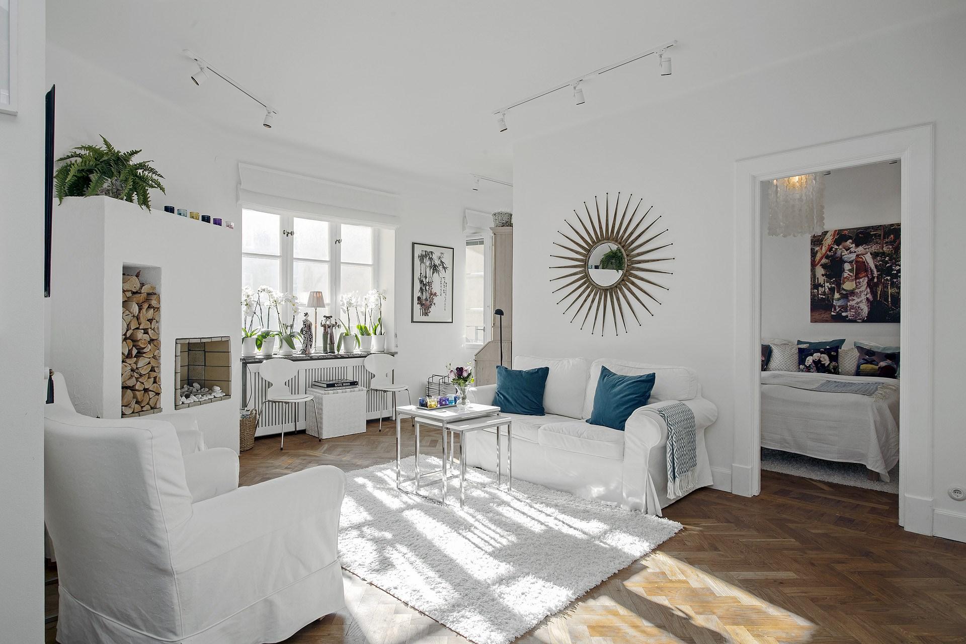 minipisos interiores pequeos estilo nrdico escandinavo espejos en el salon distribucin pisos pequeos decoracin pisos pequeos