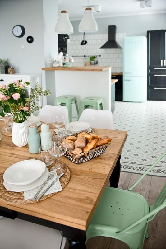 electrodomésticos mint de Smeg Detalles en mint y negro decoración nórdica decoración mint decoración de interiores color mint y detalles retro blog decoración nórdica