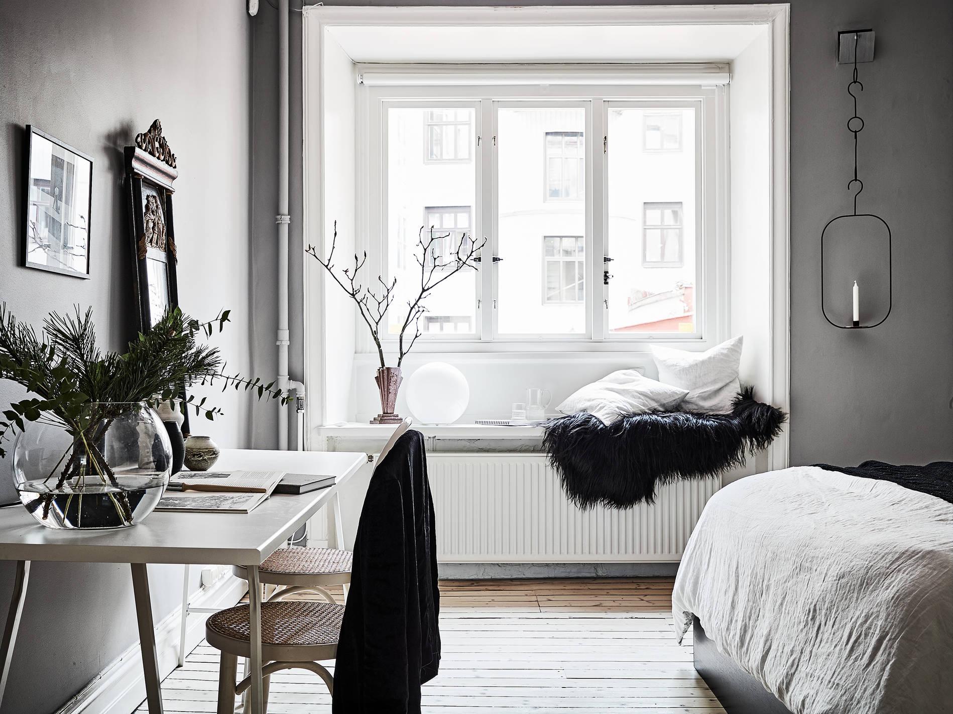 Paredes grises y carpinter a blanca blog tienda for Paredes blancas