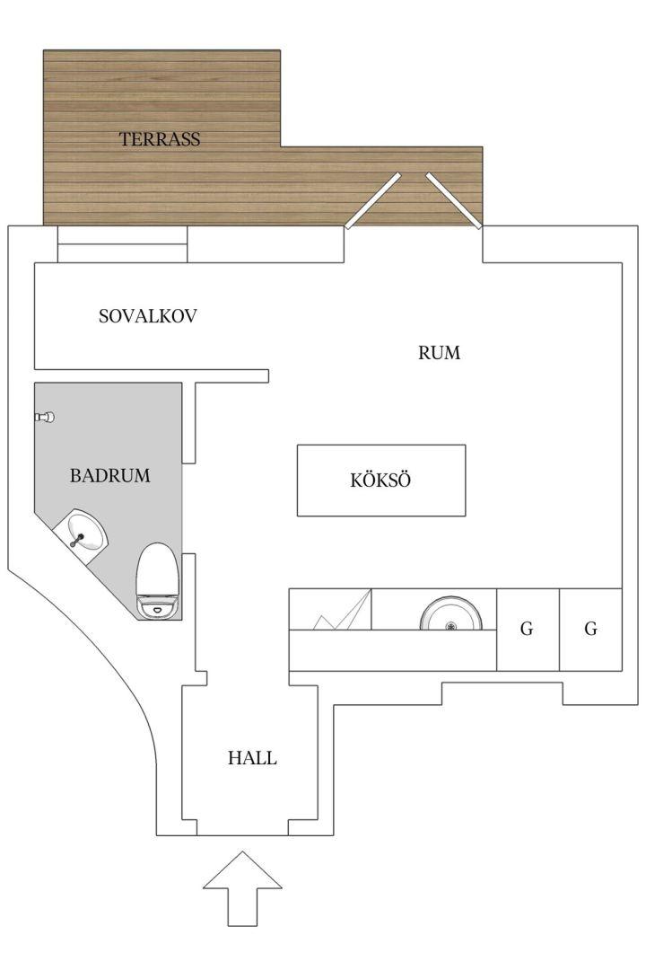 mini pisos con terraza estilo escandinavo decoración mini pisos cocinas pisos pequeños cocina con marmol cocina con isla camas de hotel blog decoración nórdica