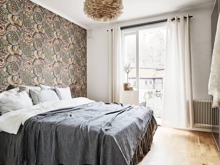 papel pintado floral papel de pared panelado madera mezclar acabados mezcla revestimientos estilo escandinavo cocina revestimientos blog decoración nórdica acabados paredes