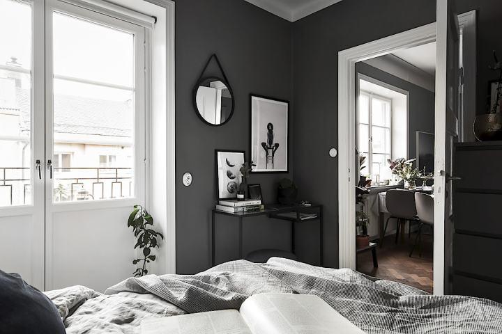 Piso n rdico de 44 m en gris oscuro blog decoraci n for Decoracion piso oscuro