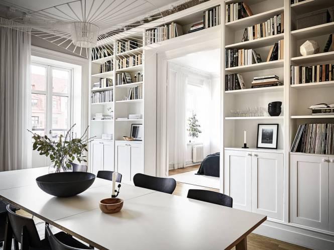 librerías inspiración Librerías de suelo a techo estilo escandinavo estilismo de estanterías estanterías nórdicas estanterías inspiración distribución librerías blog decoración nórdica