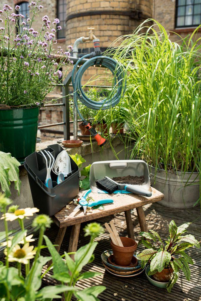 Jardinera en el balcn y en el jardn con Gardena Blog tienda