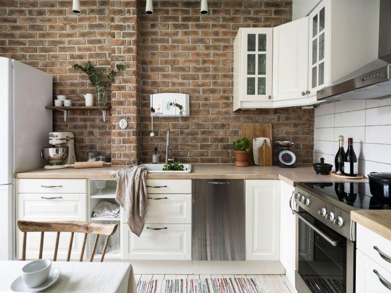 Cocinas de estilo r stico renovado blog tienda - Ladrillo visto rustico ...