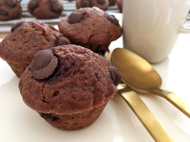 Chocolate chip mini muffins ? un bocado no muy dulce delicioso