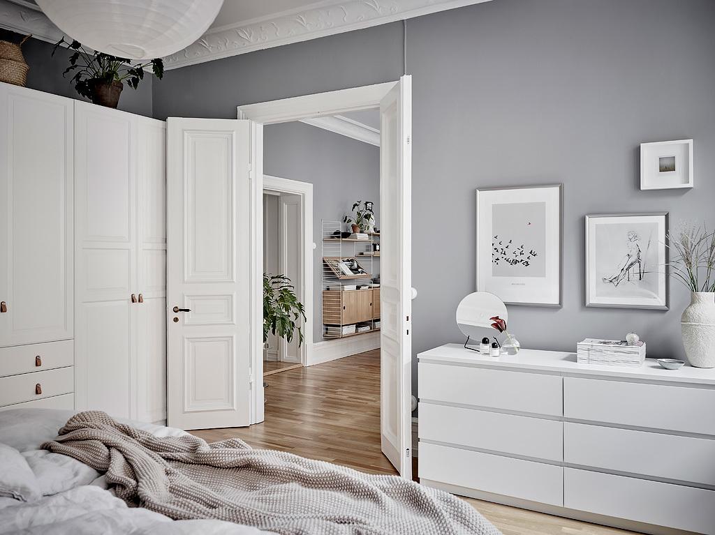 Dormitorio fresco y acogedor en grises blog tienda - Estilo nordico decoracion ...