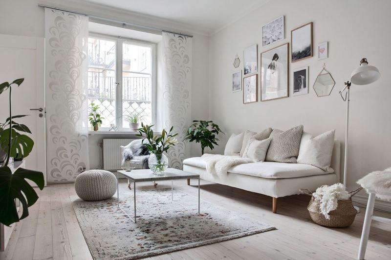 38 m decorados en blanco en estocolmo blog tienda for Departamentos pequenos modernos decorados