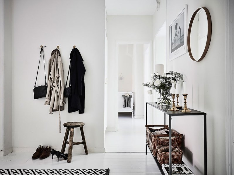 pisos nórdicos estilo escandinavo decorar un recibidor nórdico decoración recibidor decoración hall decoración en blanco