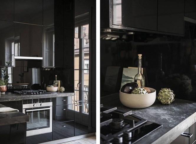 cocinas pequeñas cocinas nórdicas negras cocinas nórdicas cocinas modernas cocinas ikea negras cocinas ikea cocinas escandinavas cocina negra alto brillo acabado brillo cocinas