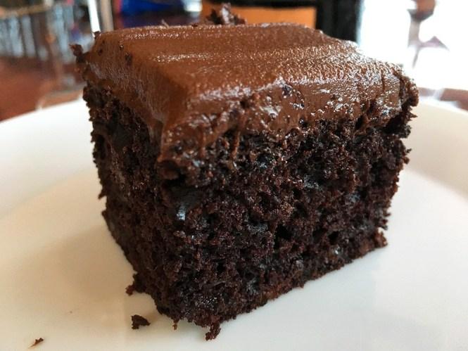 frosting de chocolate cobertura chocolate chocolate zucchini cake chocolate frosting bizcocho muy jugoso Bizcocho de chocolate y calabacín bizcocho de calabacín