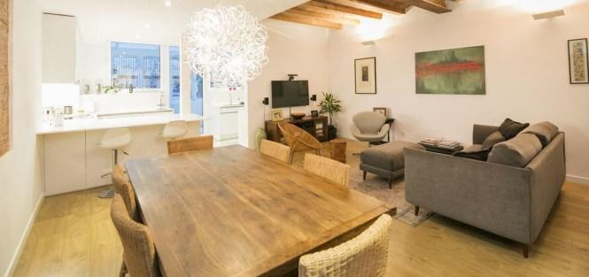 reformas nordico barcelona piso con terraza eixample muebles nórdicos estilo nórdico mediterráneo estilo nórdico barcelona estilo escandinavo decoración interiores