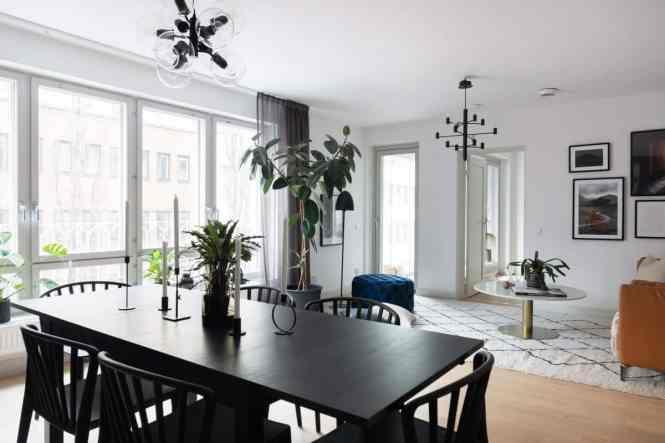 encimera de mármol blanco cocinas nórdicas cocinas negras cocinas modernas cocinas escandinavas cocinas elegantes cocinas de madera