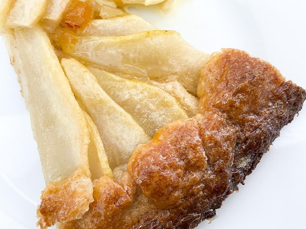 Rustic pear galette (Tarta rústica fácil de pera)