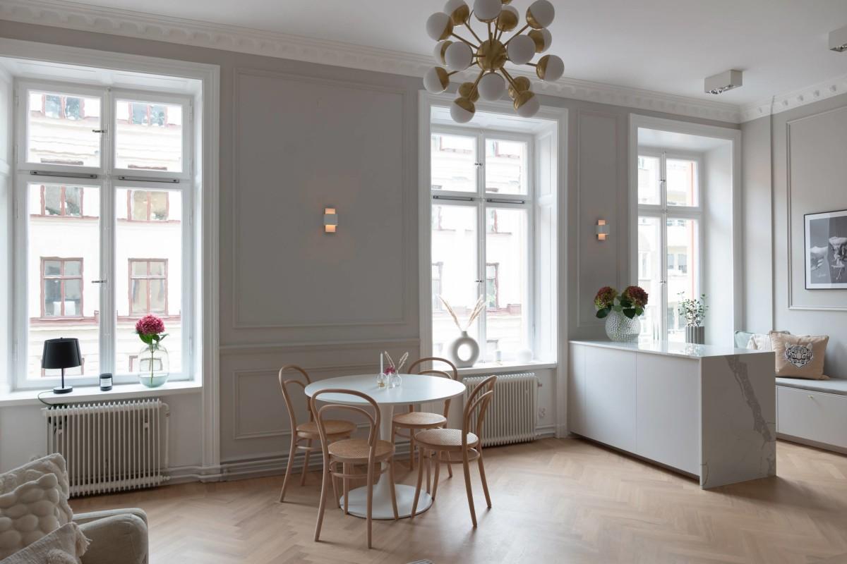 Apartamento sueco de estilo refinado y elegante
