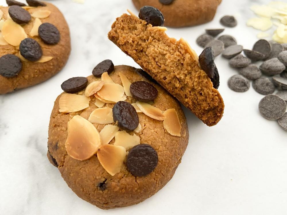 Galletas de crema de cacahuete y almendra (4 ingredientes) Peanut butter almond cookies