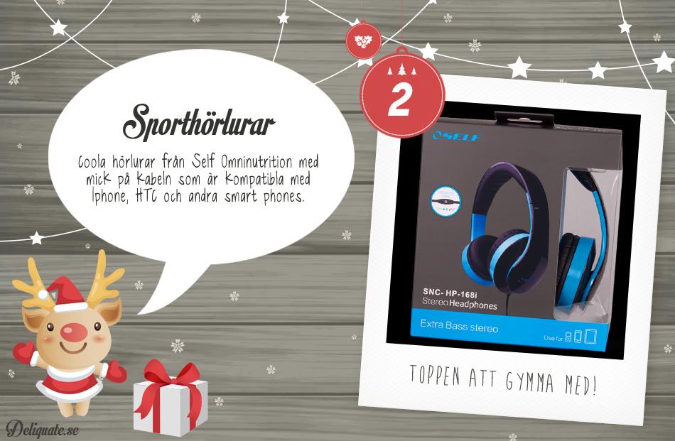 Julkalender - lucka 2: Sporthörlurar
