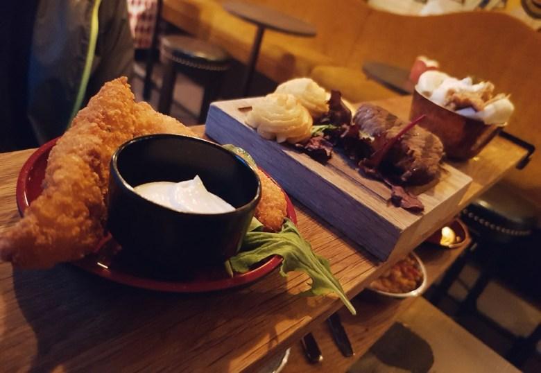 Pinchos planka, kött, kyckling