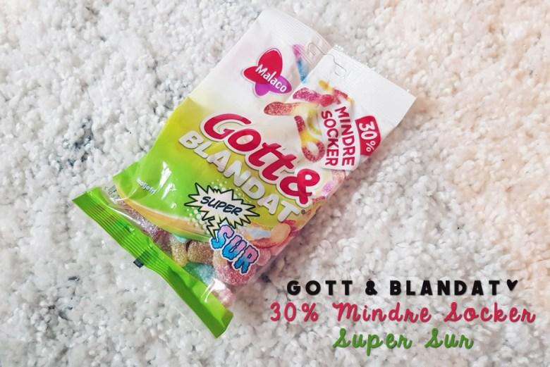Malaco Gott & Blandat Super Sur 30% mindre socker