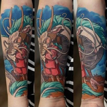 Chihiro-and-Haku-tattoo-by-Dmitriy-Samohin