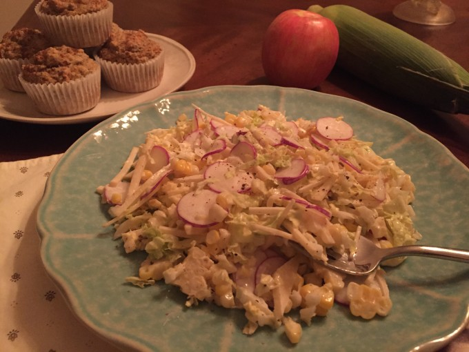 Fall Slaw with Apples and Corn