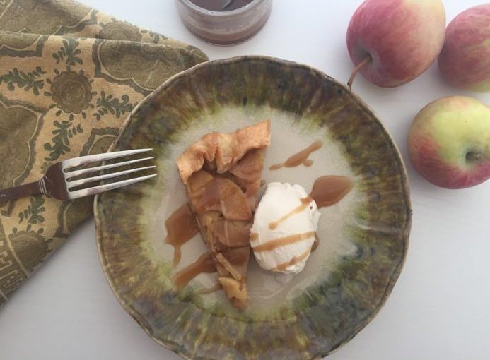 Crisp, Farm Fresh Apples plus Salted Caramel Sauce equals YUM!