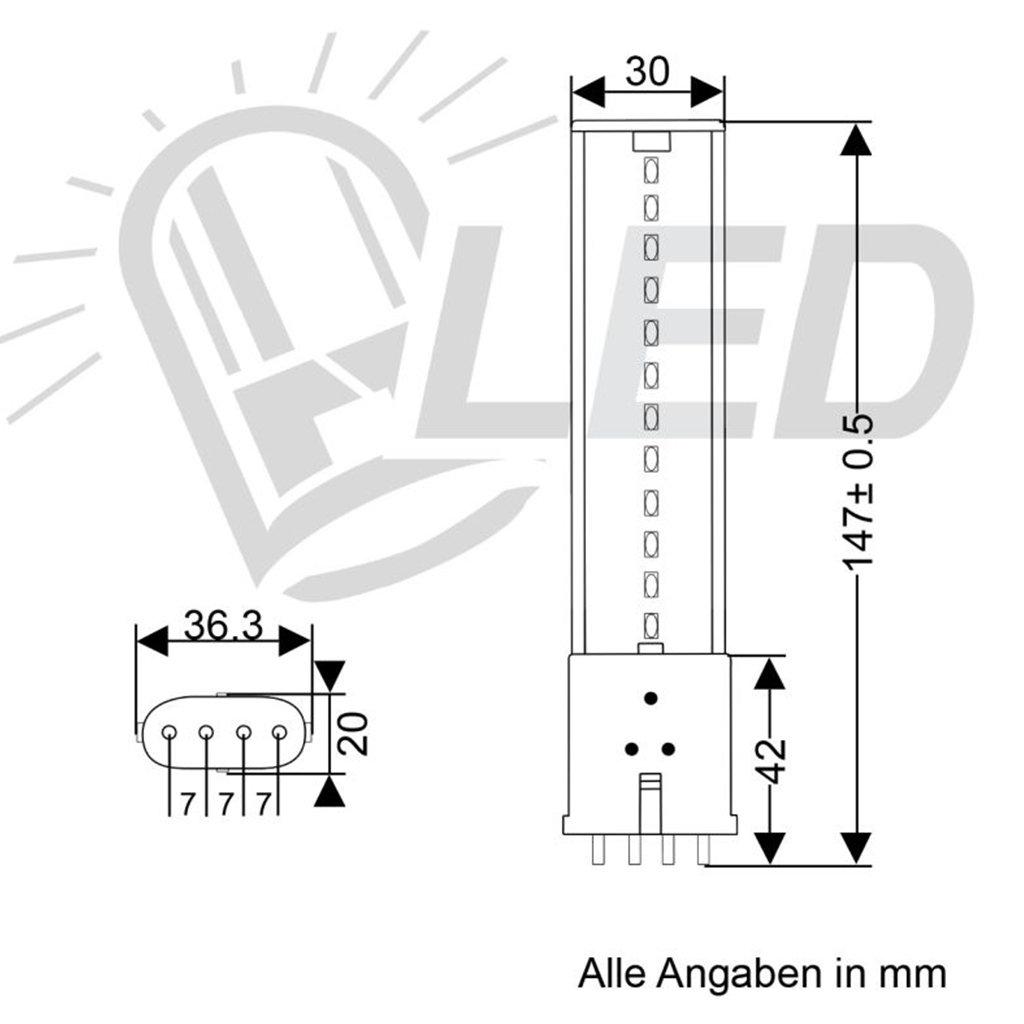 Led Ersatz Kompaktleuchtstofflampe Mit Sockel 2g7