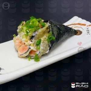 Temaki de Hot Philadelphia - Delivery Sushi Rão, o Maior do Brasil. O melhor da Comida Japonesa na sua casa!