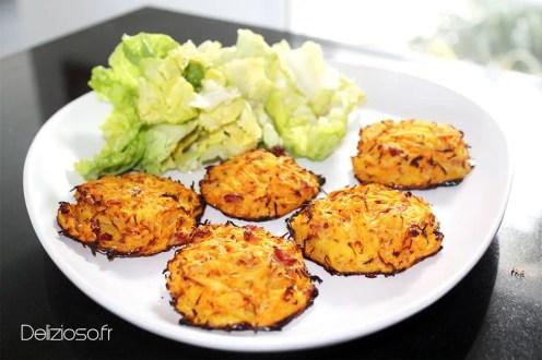 Galettes carotte pomme de terre light