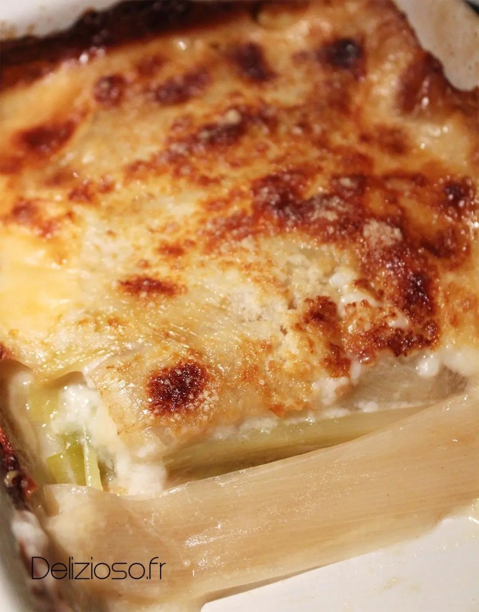 Gratin de poireaux light - 250 Calories