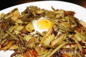 Wok de légumes fondant et son oeuf au plat
