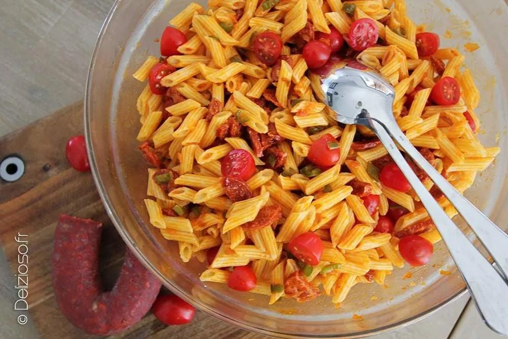 Salade De Pates Au Chorizo Delizioso