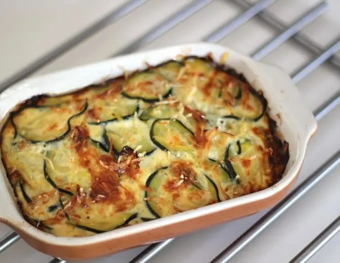 Gratin Courgettes Oignons - 445 kcal - 10 SP
