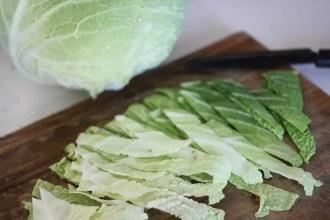 Gratin de chou vert au gorgonzola