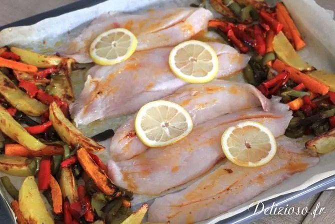 Dorade et légumes rotis