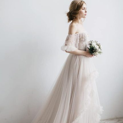 The Viris - floral lace wedding dress from Dell'Amore Bridal's Wedding Bloom collection