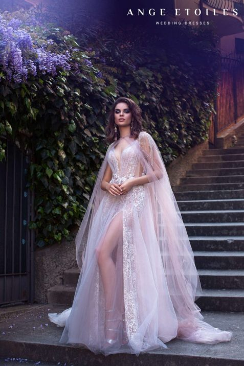 Afina pink wedding dress from Dell'Amore Ali D'amore Collection