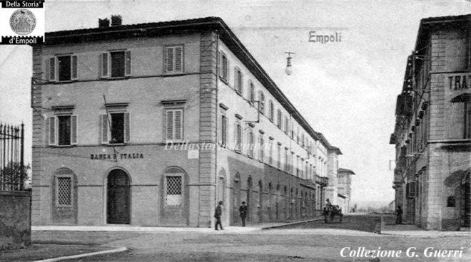 La sede della Banca d'Italia in Via Roma incrocio Via G. Da Empoli