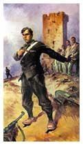 Particolare del quadro di Vittorio Pisani sulla morte di D'Acquisto. Museo Storico Arma dei Carabinieri, Roma.