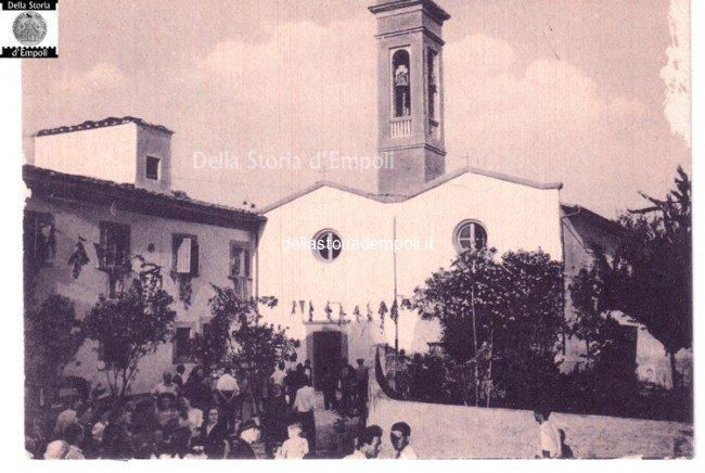 Chiesa Di Riottoli In Una Cartolina A Cavallo Degli Anni '50 E '60
