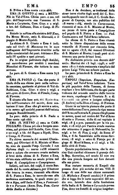 Pagine da Dizionario geografico fisico storico Repetti
