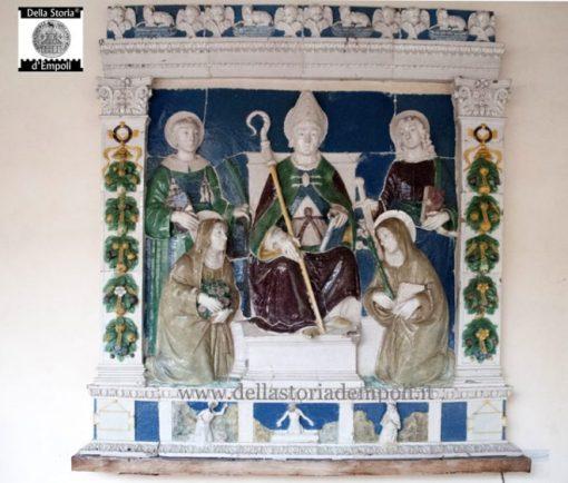 Benedetto Buglioni -Sant'Anselmo in trono tra i santi
