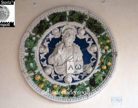 Eterno Padre benedicente in gloria d'angeli – Andrea della Robbia