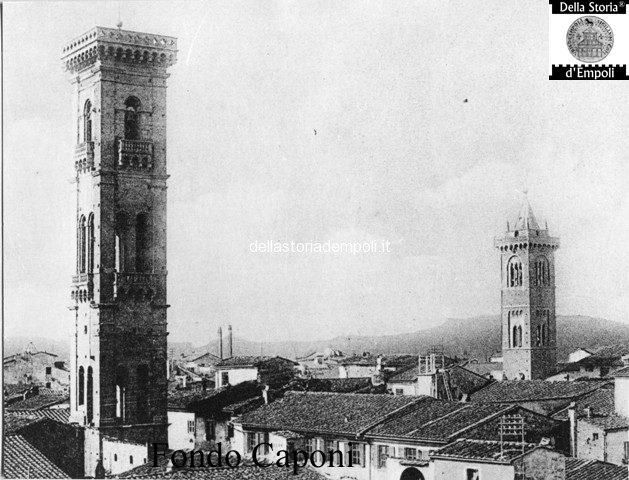 Campanili della Collegiata e S. Agostino visti da est