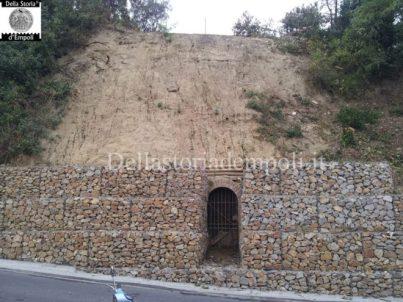Entrata dell'ex rifugio antiaereo a Monterappoli