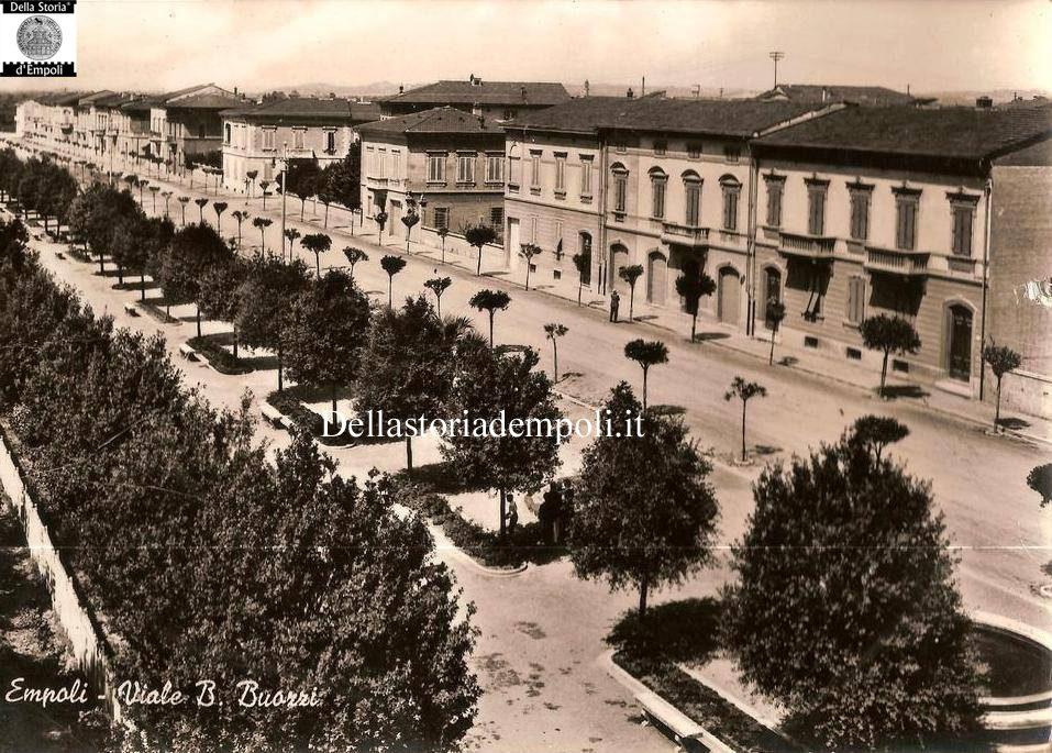 Empoli, Viale Buozzi In Bianco E Nero Nel 1958