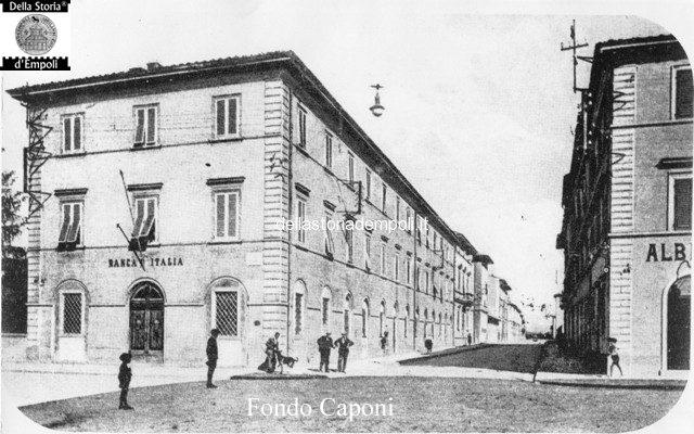 Empoli via Roma incrocio con via Giovanni da Empoli ex Banca d'italia